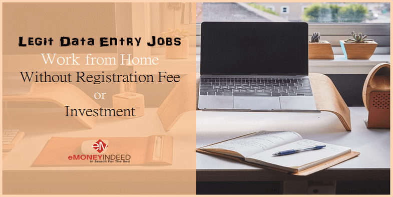 Legit Online Data Entry Jobs from Home Without Registration Fee