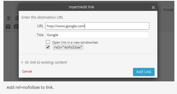 Rel Nofollow Checkbox - WordPress Plugins