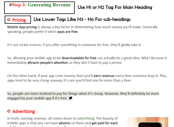 Headings Tags-Header Tags like H1, H2, H3, H4, H5 and H6