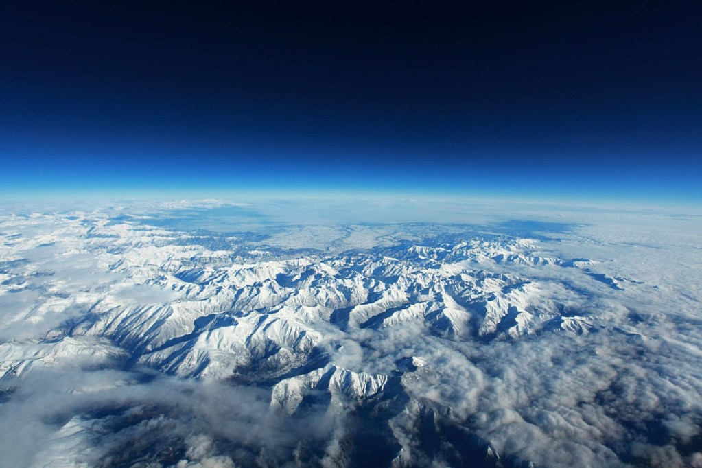 Mountains as seen from space.