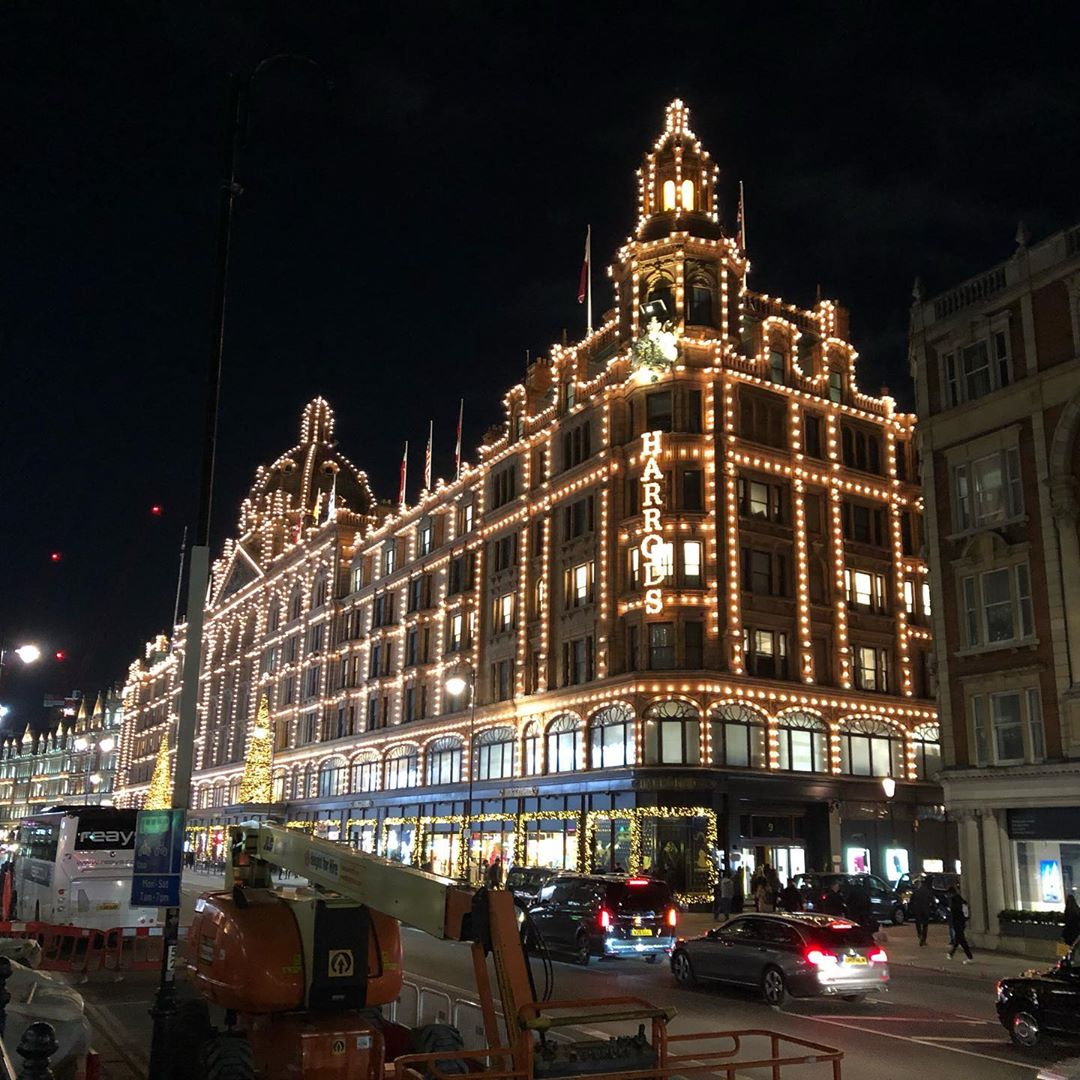 Lights at night in London.