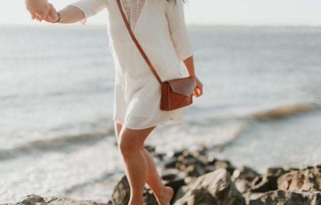 Vestito bianco corto