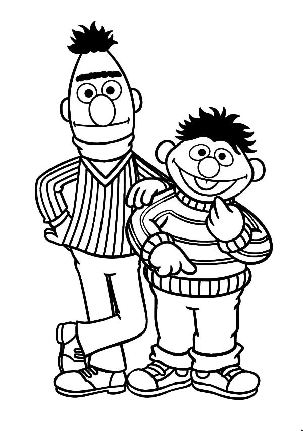 How-to-Draw-Bert-and-Ernie-Coloring-Pages