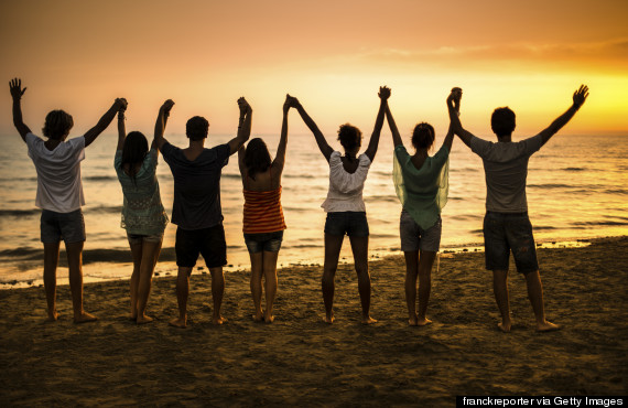 togetherness on the beach
