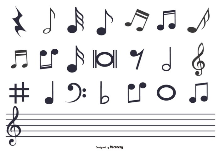 music-notes-set-vector
