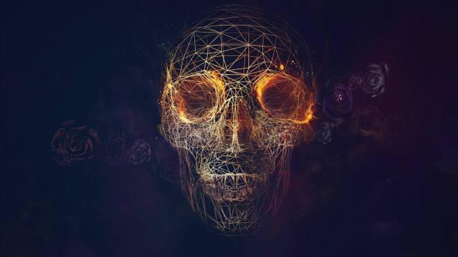 3-d-geodesic-skull-wallpaper