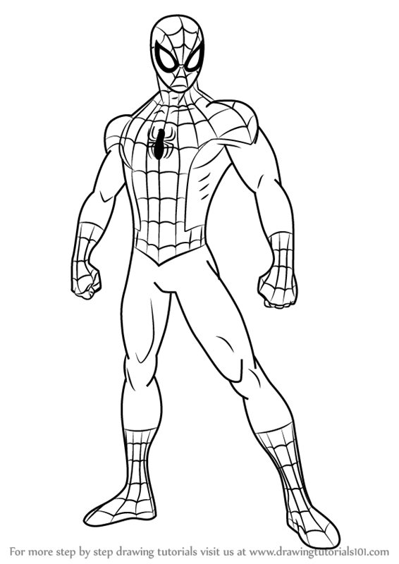 how-to-draw-Ultimate-Spider-Man-step-0