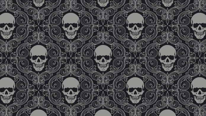 skull_drawing_gray_texture_69765_3840x2160