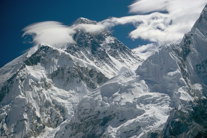 The extreme terrain of Mount Everest.