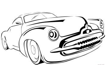 Carros para imprimir e colorir