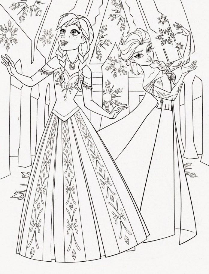 desenhos para colorir frozen imprimir