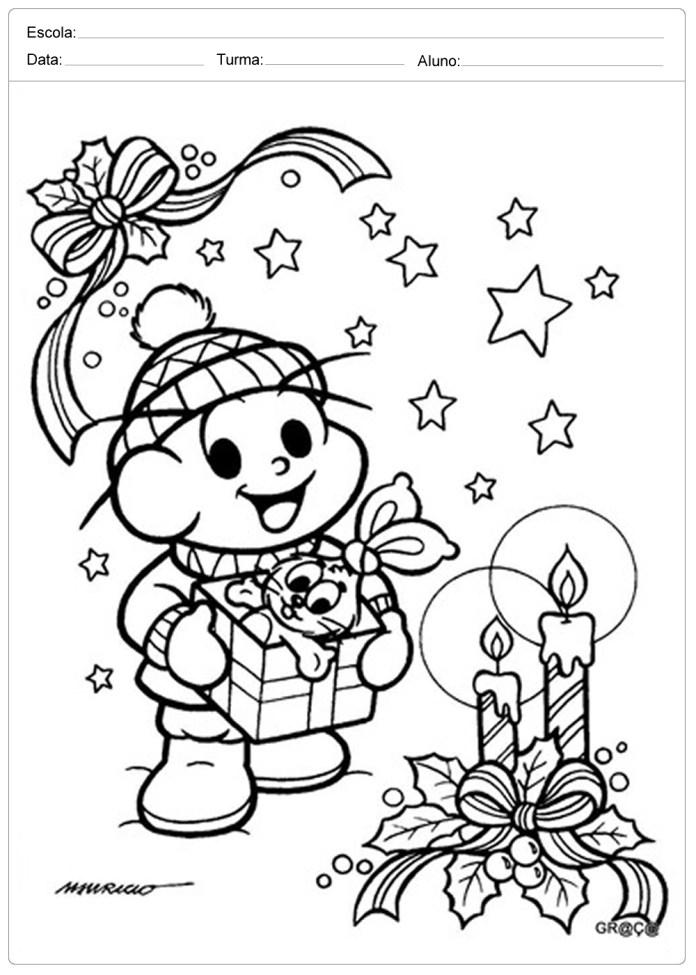 Desenhos De Natal Para Colorir E Já Coloridos