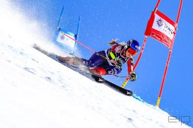 Sportfotografie Riesentorlauf Ski Weltcup Mikaela Shiffrin Lenzerheide - emotioninpictures / Mario Bühner