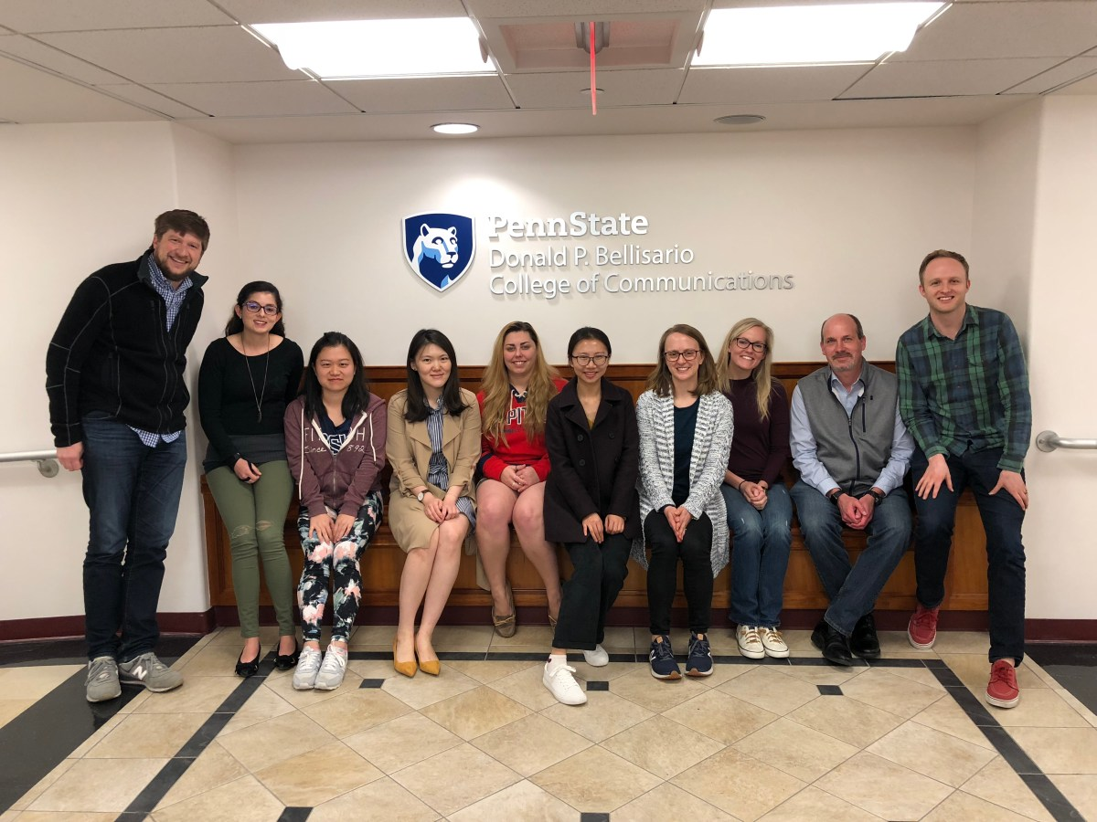 Me with some awesome PSU graduate students at the end of my first ever graduate course, Health Media Effects, Spring 2018.