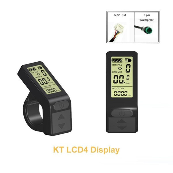 Electric Bike KT LCD4 Display 24V 36V 48V Ebike Panel Smart Control Small Display