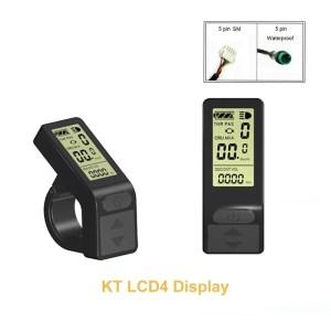 Electric Bike KT LCD4 Display 24V 36V 48V Ebike Panel Smart Control Small Display