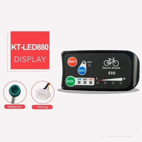 Ebike Display KT LED880 Display36V 48V Electric Bike Intelligent Control Panel Display
