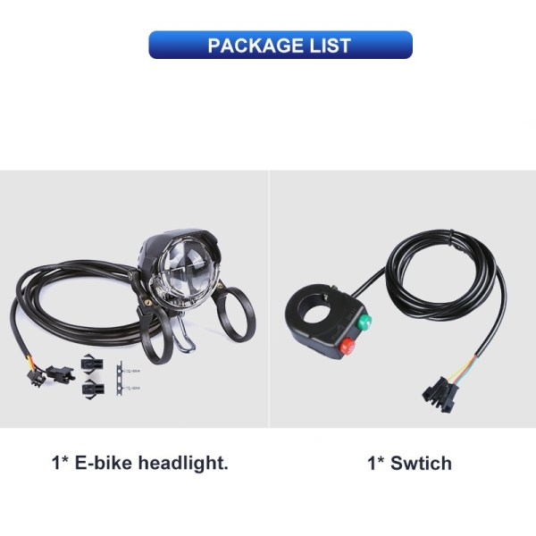Electric Bicycle Light 3W Waterproof & Shockproof Headlight