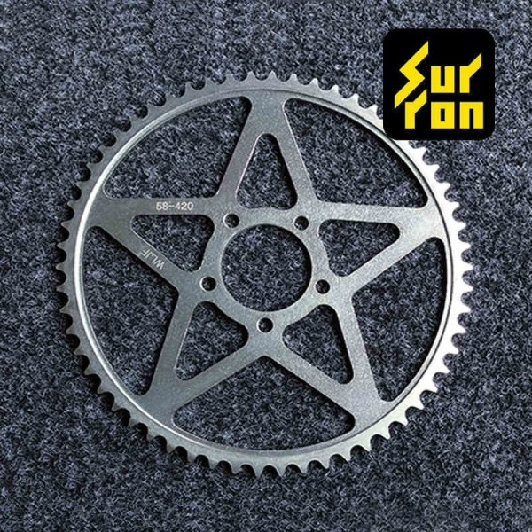 SUR RON Electric Motocorss Light Bee Accessories 58T Sprocket Wheel and Chain