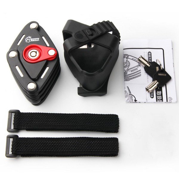 Bicycle Folding Lock Bike Handy Pocket Key Storage Lock Chain Cable Padlock Lock For Cycling