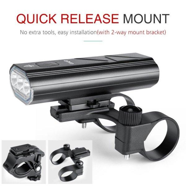 Bike Light USB Rechargeable Bike Headlight  Bicycle Flashlight