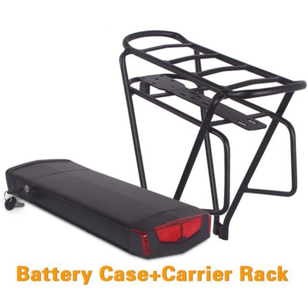 Ebike 36V 48V Rear Rack Battery Box and  Double Layer Luggage Rack