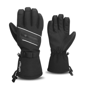 Winter Outdoor Warm Fleece Snow Gloves Waterproof Mittens Sport Touch Screen Anti-cold Long Gloves