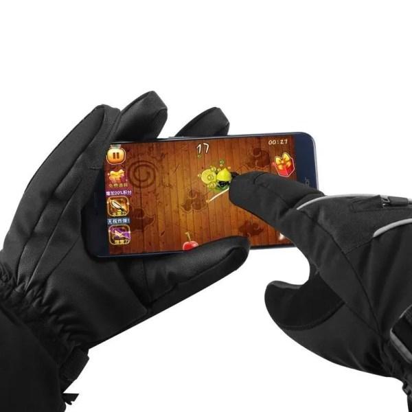 Winter Outdoor Warm Fleece Snow Gloves Waterproof Mittens Sport Touch Screen Anti-cold Long Gloves