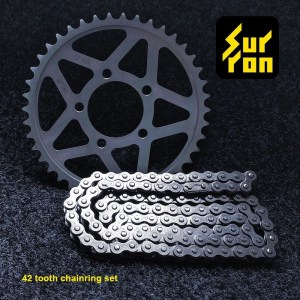 42T Sprocket Wheel and Chain for Sur ron Electric Dirt Bike Light Bee Accessories
