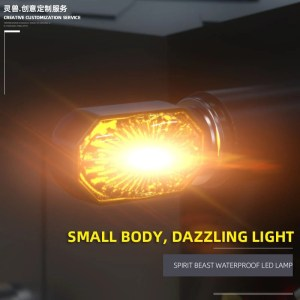 Electric Motorcycle Light  12V LED Turning Light  Motocross Warning Light Modification Retro Light