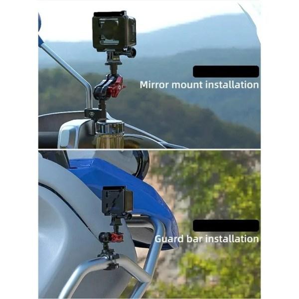 Motorcycle Camera Bracket Motocross Sports Camera Handlebar Holder