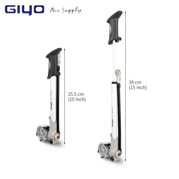 Foldable 300psi High-pressure Bike Air Shock Pump Bicycle Portable Pump