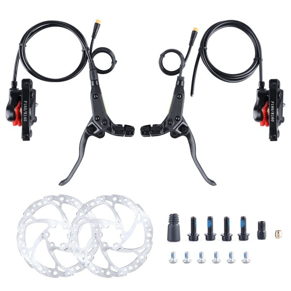 Electric Bike Hydraulic Brake Set E-brake for Bafang BBS Motor 3pin Connector