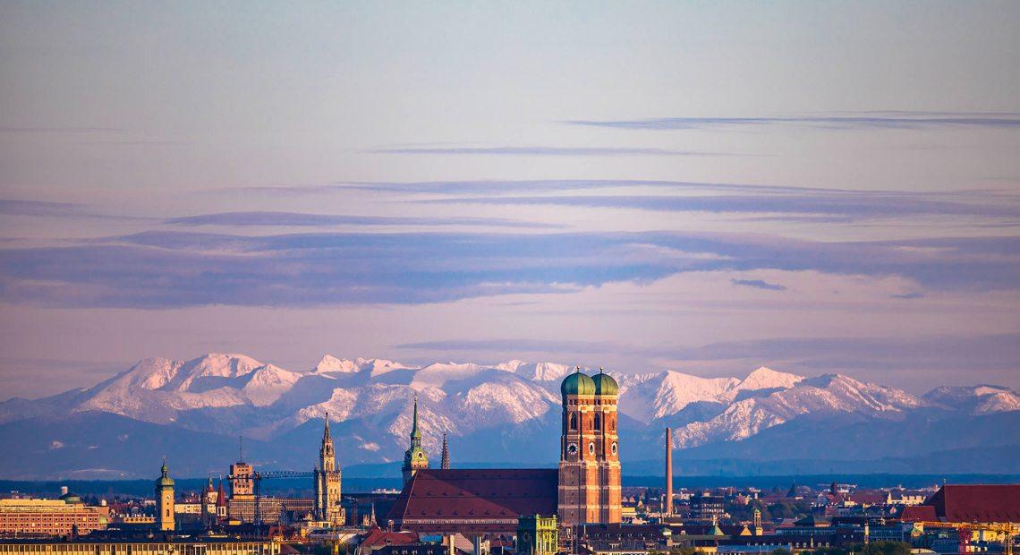 Pohled na Alpy od Mnichova