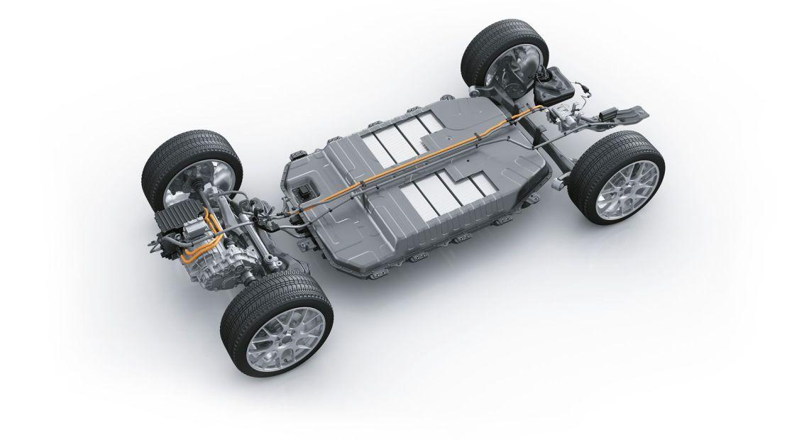 Podvozek elektromobilu s integrovanou baterií (foto Festo)