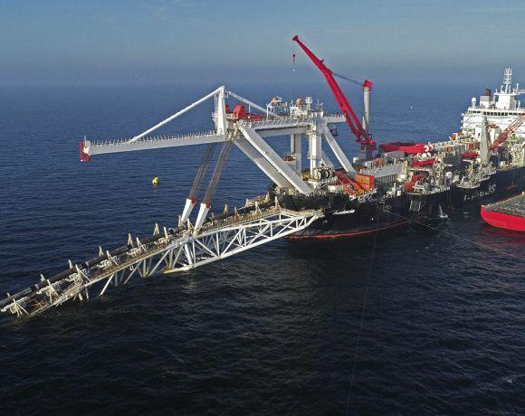 Pokládla potrubí pro Nordstream 2 (foto Gazprom)