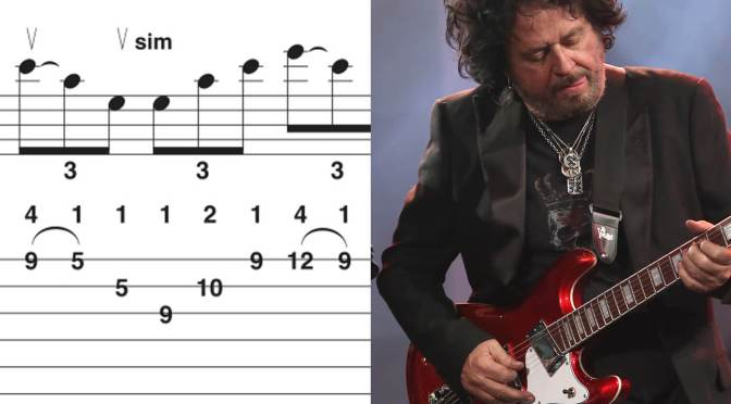 Toto's Steve Lukather compares tablature to the video game Guitar Hero