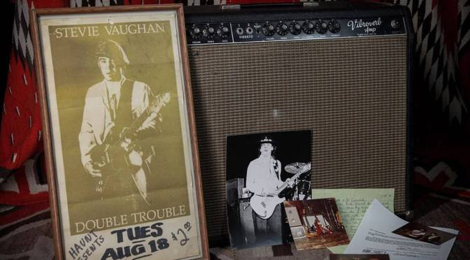 Stevie Ray Vaughan's Fender Vibroverb, used to record Let's Dance, is going up for sale