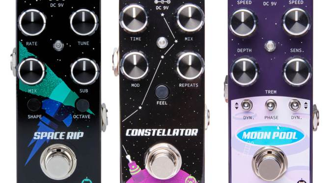 Pigtronix goes interstellar with the Space Rip, Constellator and Moon Pool