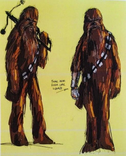 Chewbacca (si nota il braccio robotico).