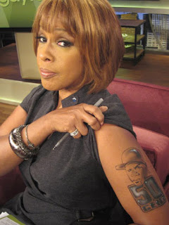 Gayle King 50 Cent Tattoo