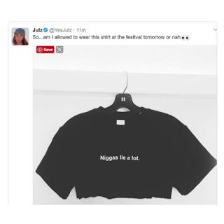 YesJulz Racist Tweet