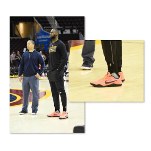 LeBron James Wearing Kobes Guillermo