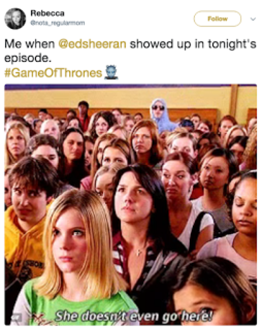 Ed Sheeran Game of Thrones Meme