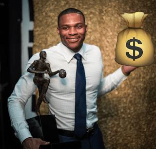 Russell Westbrook Net Worth 2017 – 205/5 = $41 Million