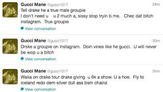 Gucci Mane Twitter Rant Drake