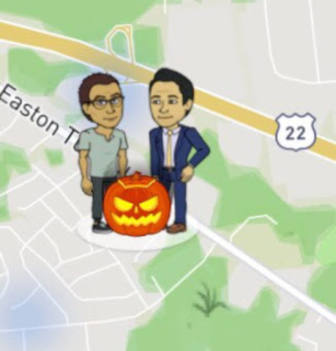 Snap Map Actionmoji Pumpkin
