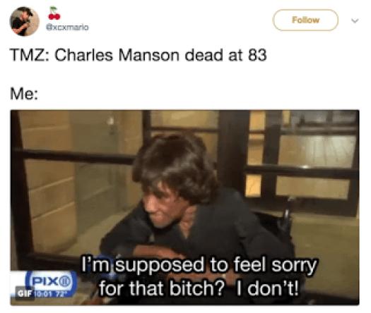Charles Manson Dead Memes