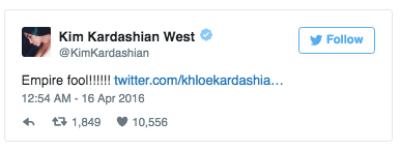 Kim Kardashian Empire Fox