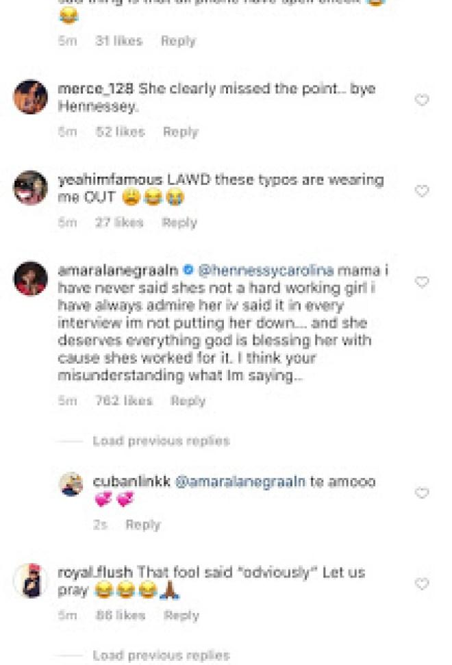 Cardi B Sister Calls Out Amara La Negra